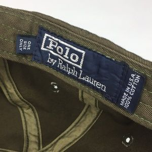 6dcfc4c55c8 Polo by Ralph Lauren Accessories - Polo by Ralph Lauren Hat USA Made OD  Green JJ8